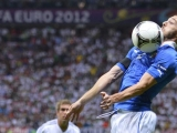 Italian defender Federico  Balzaretti controls the ball during the Euro 2012 football championships semi-final match Germany vs Italy on June 28, 2012 at the National Stadium in Warsaw.     AFP PHOTO/ FABRICE COFFRINI        (Photo credit should read FABRICE COFFRINI/AFP/GettyImages)
