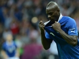 Italian forward Mario Balotelli celebrates after scoring during the Euro 2012 football championships semi-final match Germany vs Italy on June 28, 2012 at the National Stadium in Warsaw.           AFP PHOTO / CHRISTOF STACHE        (Photo credit should read CHRISTOF STACHE/AFP/GettyImages)
